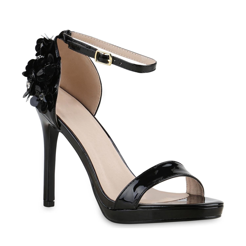 damen party sandaletten high heels metallic pailletten. Black Bedroom Furniture Sets. Home Design Ideas