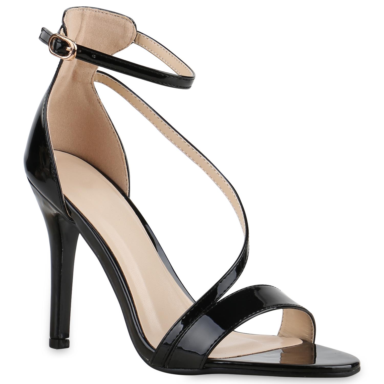 damen party sandaletten high heels metallic lack stilettos. Black Bedroom Furniture Sets. Home Design Ideas