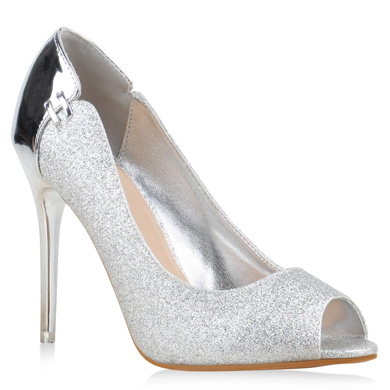 damen pumps high heels stilettos lack glitzer metallic. Black Bedroom Furniture Sets. Home Design Ideas