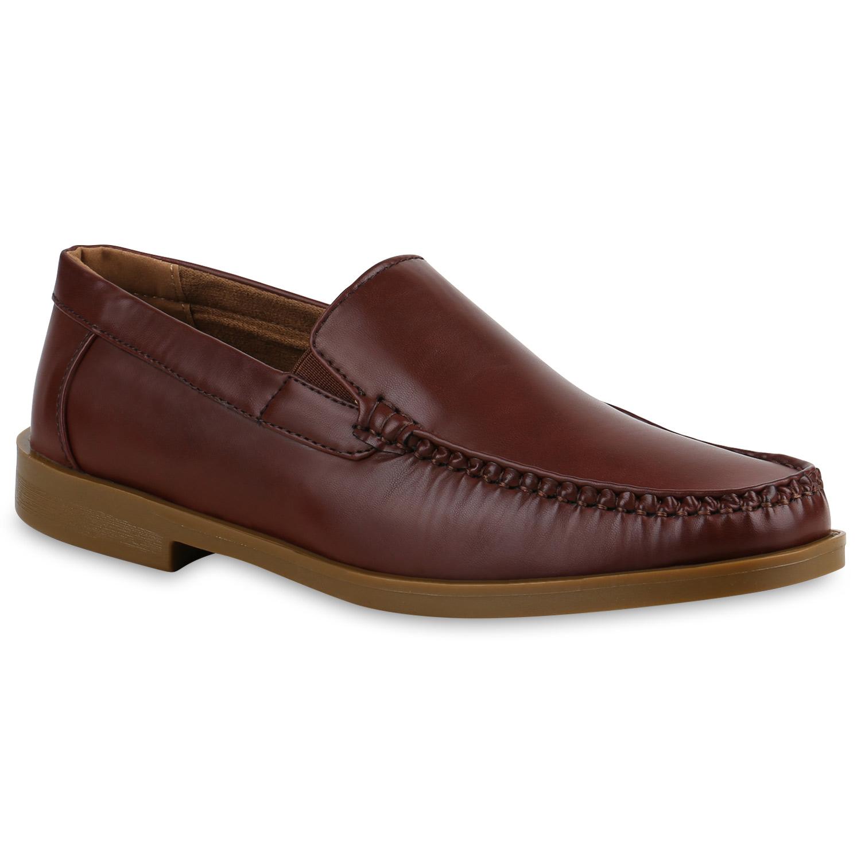 Klassische Herren Slipper Lederoptik Schuhe Business 815493 Modatipp