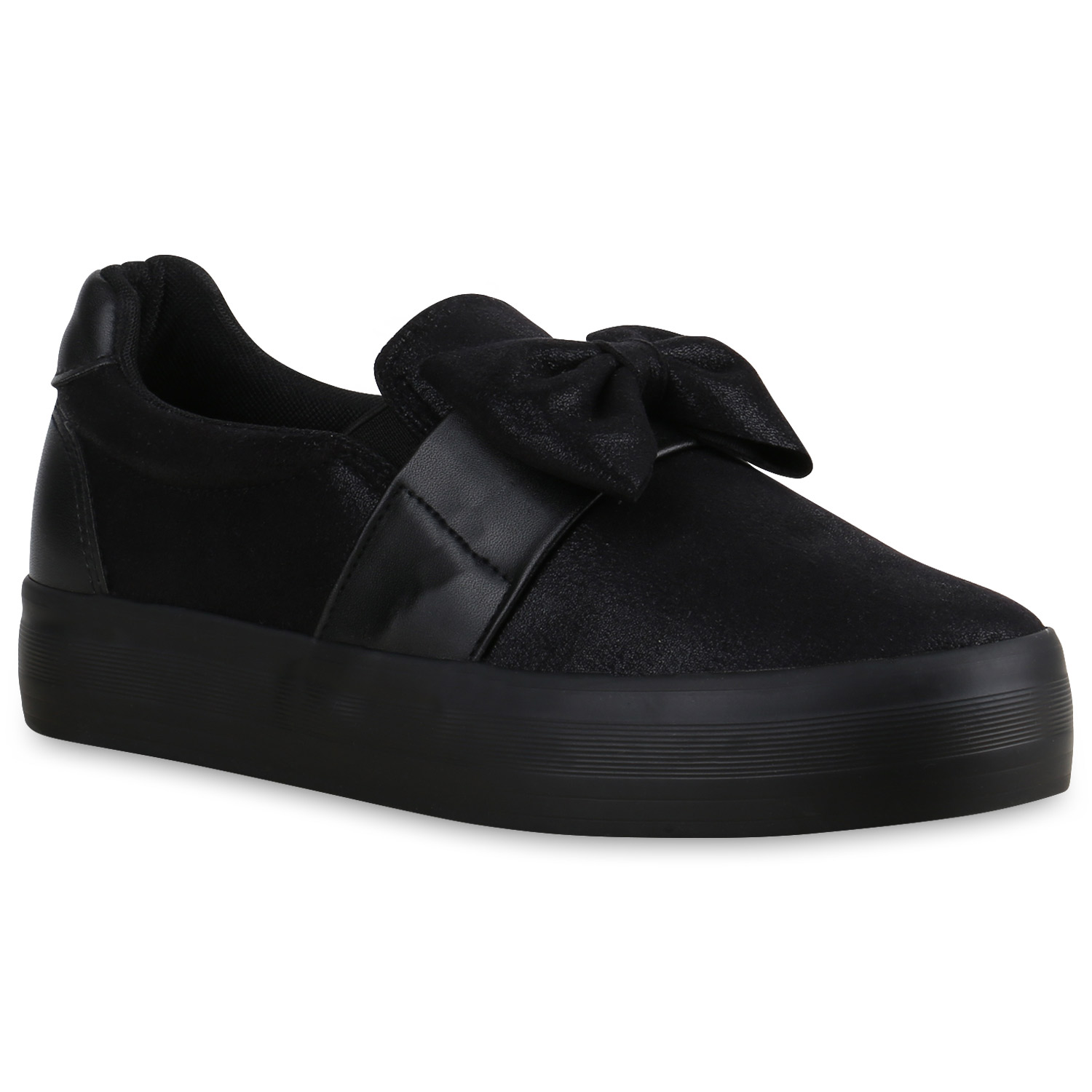 damen plateau sneaker slip ons glitzer schleifen sneakers schuhe 815540 ebay. Black Bedroom Furniture Sets. Home Design Ideas