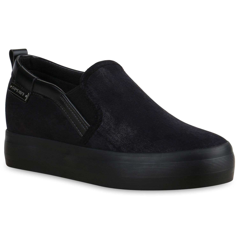 damen sneakers keilabsatz plateau glitzer sneaker wedges. Black Bedroom Furniture Sets. Home Design Ideas