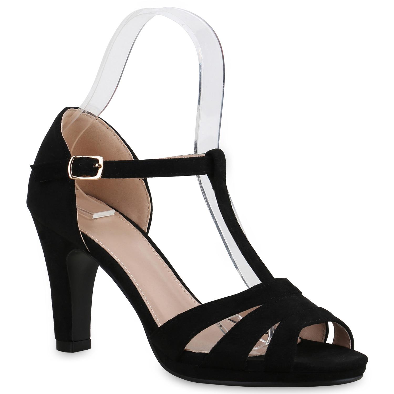 damen sandaletten high heels riemchensandaletten t strap schuhe 815569 trendy ebay. Black Bedroom Furniture Sets. Home Design Ideas