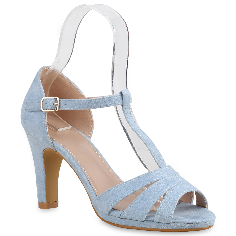 damen sandaletten high heels riemchensandaletten t strap. Black Bedroom Furniture Sets. Home Design Ideas