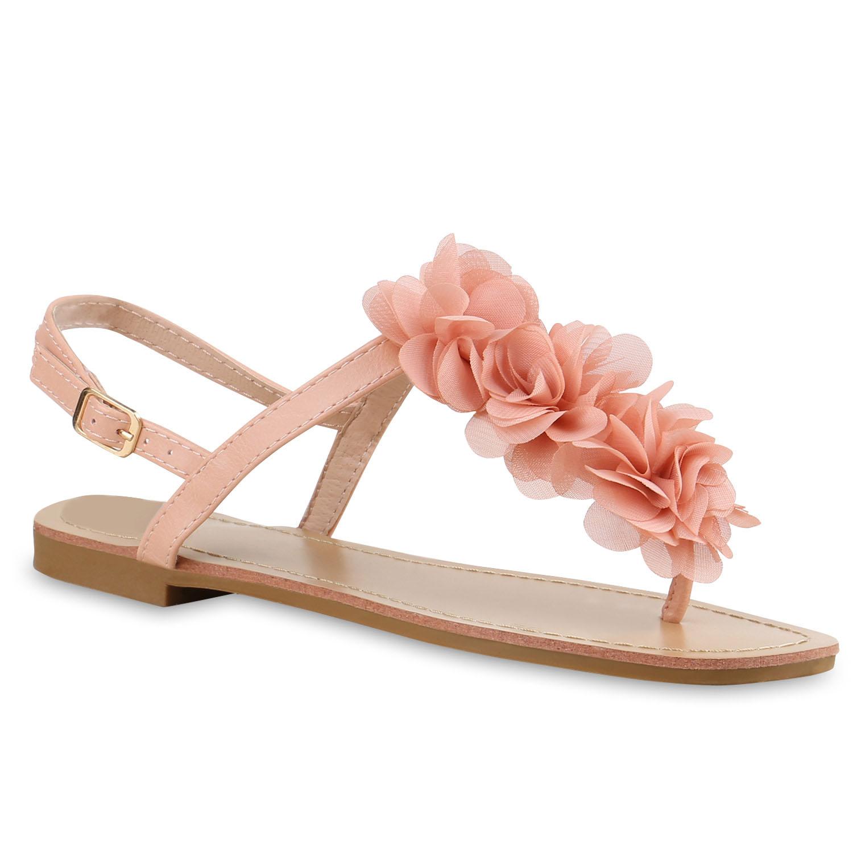 damen dianetten blumen sandalen zehentrenner sommer schuhe 810035 ebay. Black Bedroom Furniture Sets. Home Design Ideas
