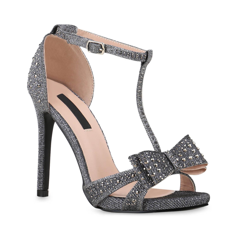 damen party sandaletten high heels stilettos strass t. Black Bedroom Furniture Sets. Home Design Ideas