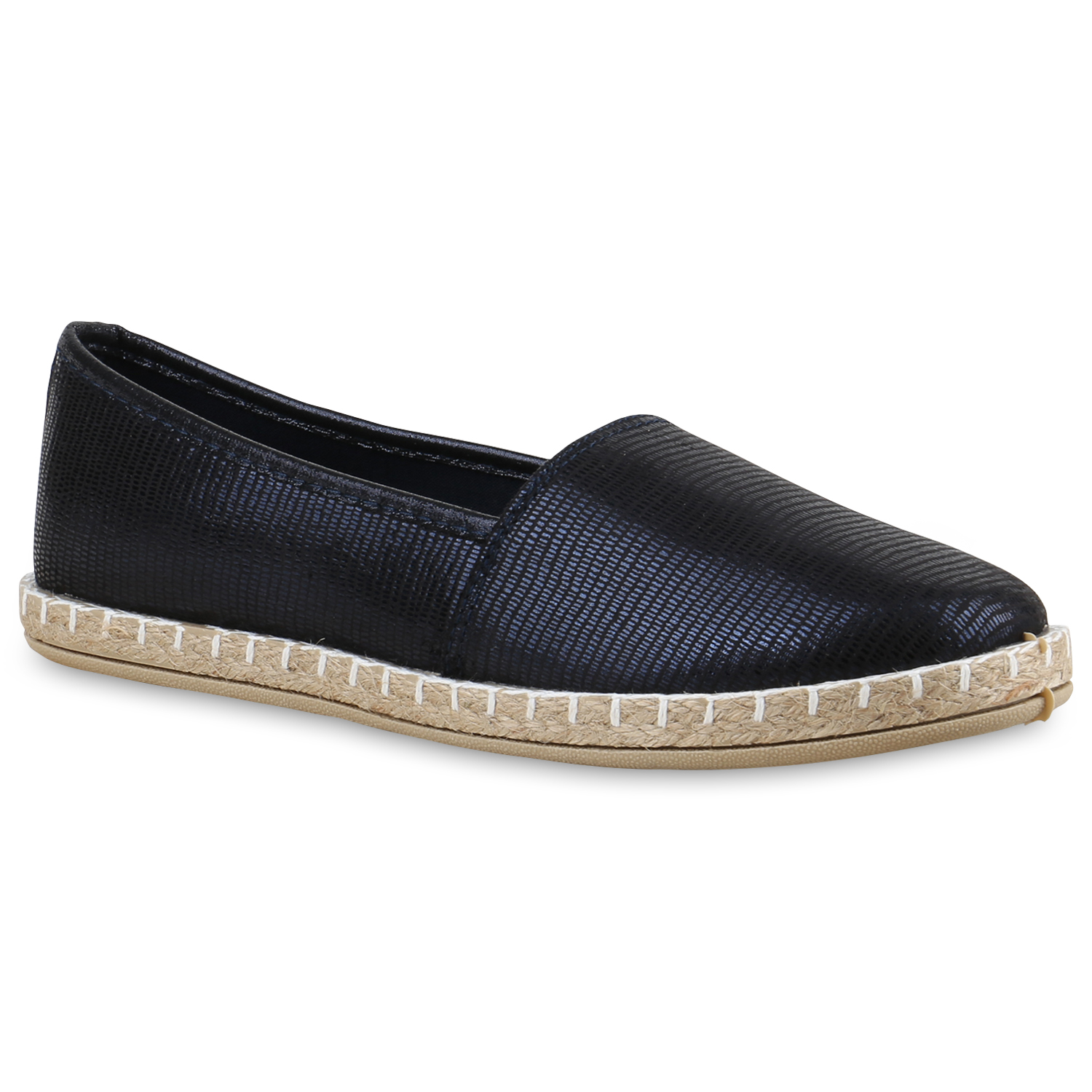 damen slipper espadrilles schuhe flats metallic glitzer slipper 815741 ebay. Black Bedroom Furniture Sets. Home Design Ideas