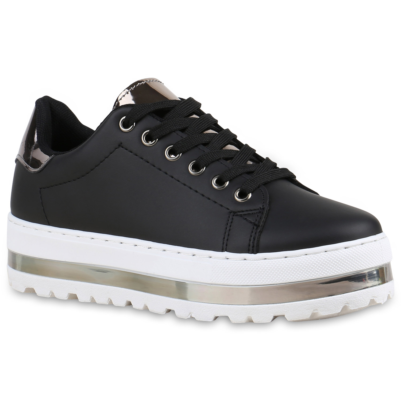 damen plateau sneaker metallic cap sneakers lack schuhe 815358 mode ebay. Black Bedroom Furniture Sets. Home Design Ideas