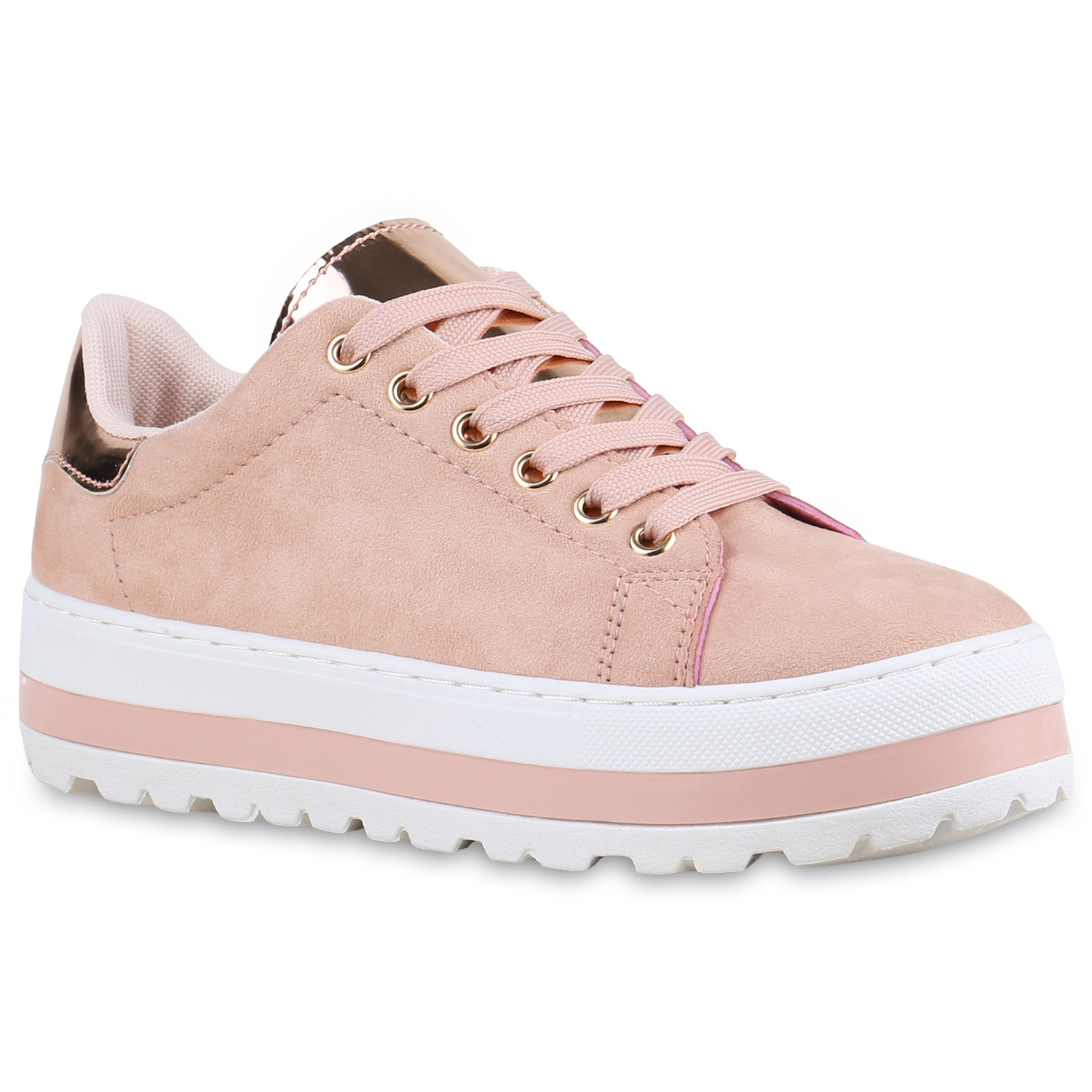 damen plateau sneaker metallic cap sneakers lack schuhe 815358 new look ebay. Black Bedroom Furniture Sets. Home Design Ideas