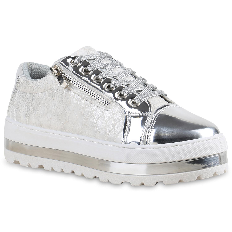 damen plateau sneaker metallic cap sneakers lack schuhe. Black Bedroom Furniture Sets. Home Design Ideas