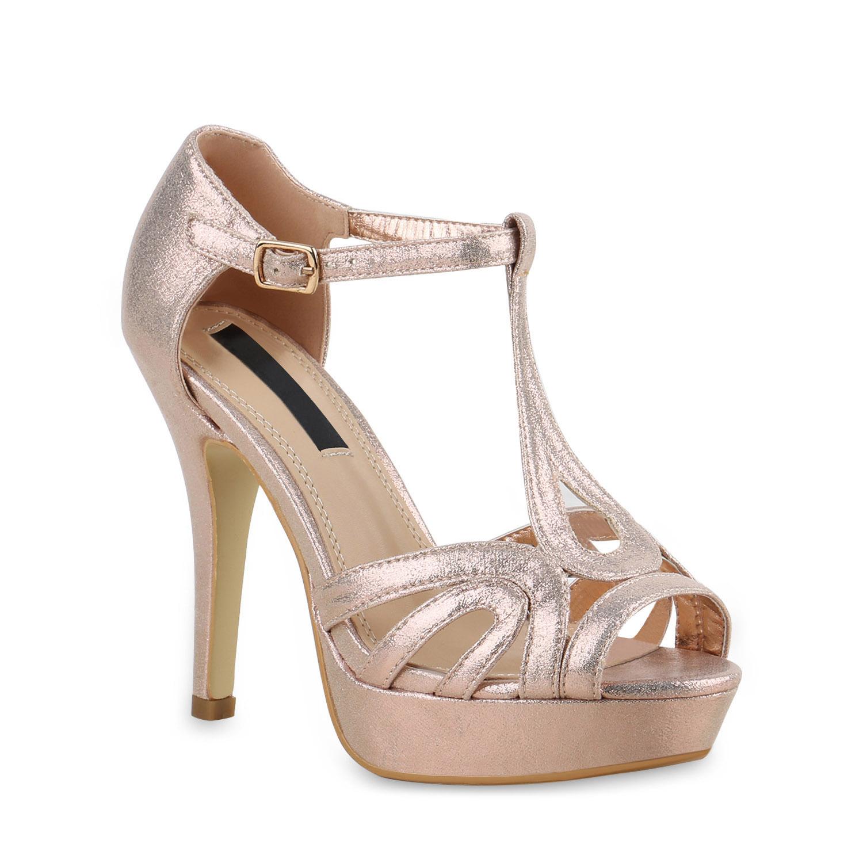 damen sandaletten glitzer metallic high heels. Black Bedroom Furniture Sets. Home Design Ideas