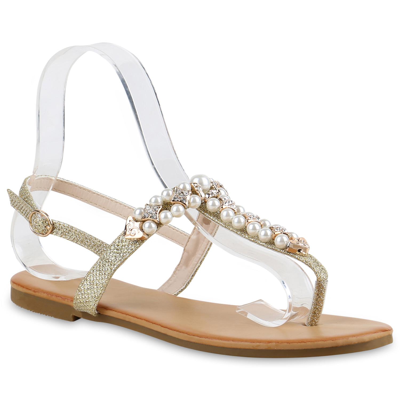 modische damen perlen sandalen glitzer zehentrenner flip. Black Bedroom Furniture Sets. Home Design Ideas