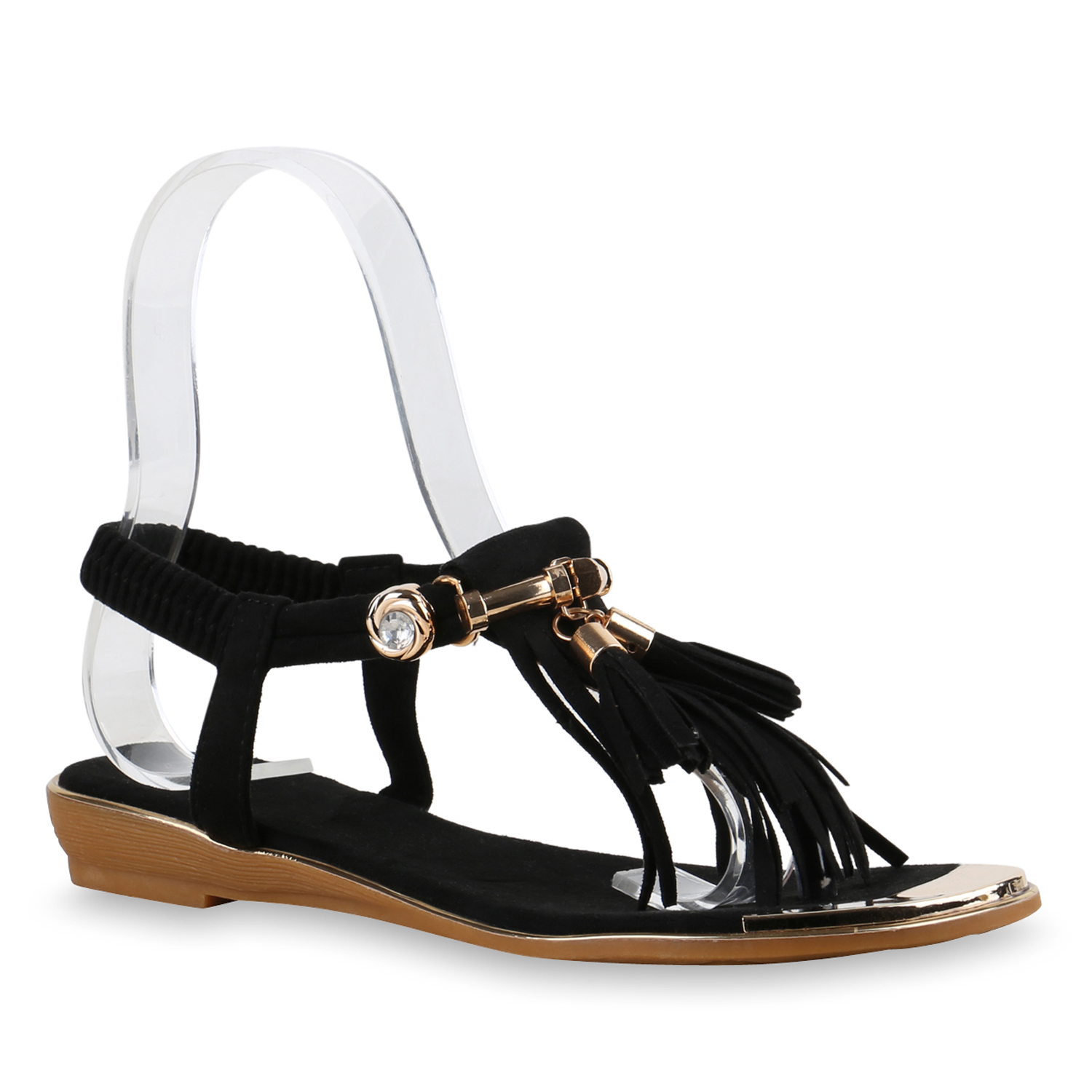 modische damen fransen sandalen quasten zehentrenner 815986. Black Bedroom Furniture Sets. Home Design Ideas