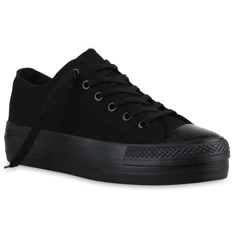 sportliche damen plateau sneaker basic turnschuhe 816075. Black Bedroom Furniture Sets. Home Design Ideas