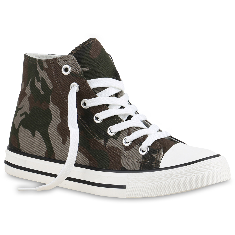 damen high top sneakers stoffschuhe trendfarben sportschuhe 814973 trendy. Black Bedroom Furniture Sets. Home Design Ideas
