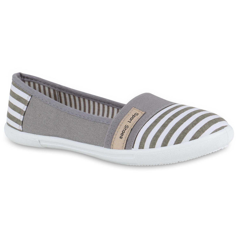 sportliche damen ballerinas canvas slipper freizeit schuhe 810471 mode ebay. Black Bedroom Furniture Sets. Home Design Ideas