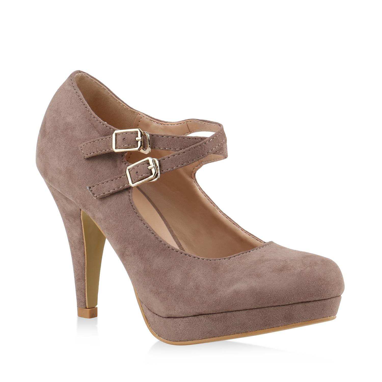 damen pumps mary janes plateau absatzschuhe high heels. Black Bedroom Furniture Sets. Home Design Ideas