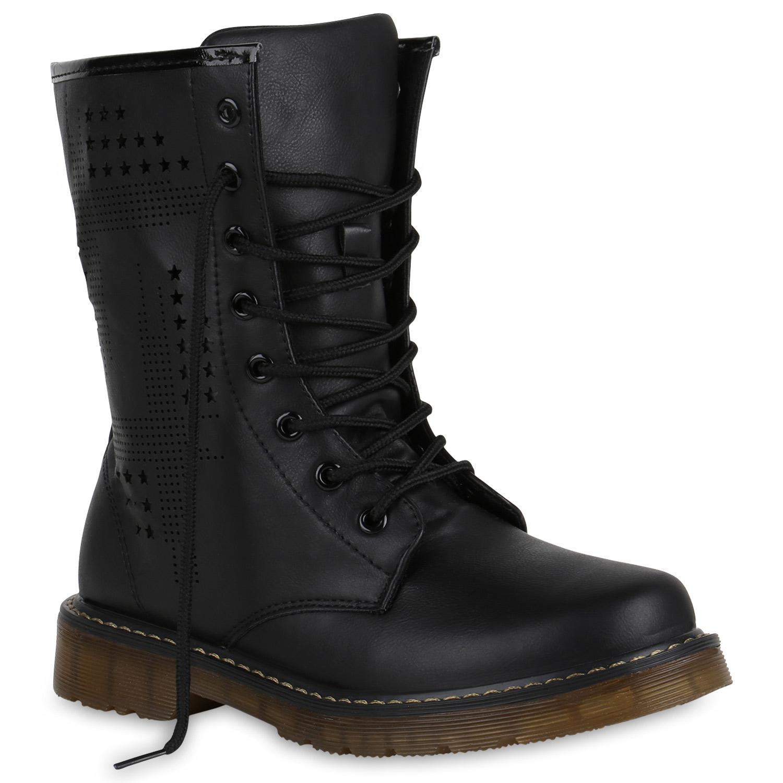derbe damen herren stiefeletten worker boots schn rstiefel. Black Bedroom Furniture Sets. Home Design Ideas