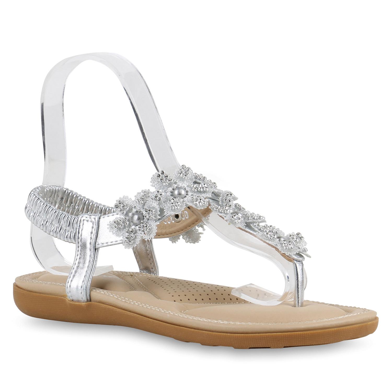 zehentrenner damen strass sandalen blumen sommer schuhe. Black Bedroom Furniture Sets. Home Design Ideas