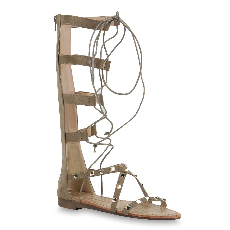 r mersandalen damen hoch geschn rt nieten sandalen gladiator 817027 ebay. Black Bedroom Furniture Sets. Home Design Ideas