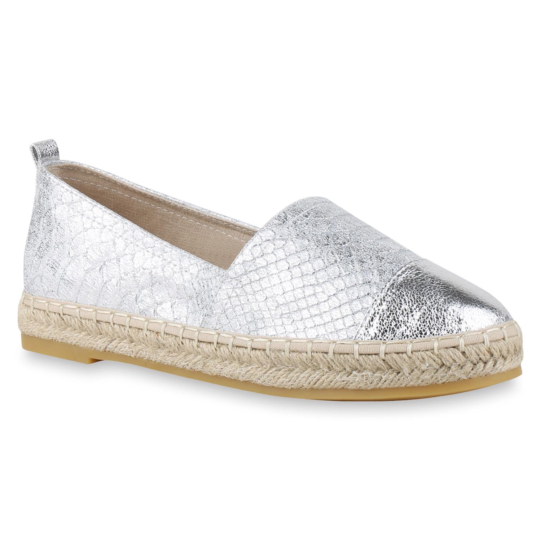 damen slipper espadrilles metallic bast schuhe glamour flats 817150 trend neu ebay. Black Bedroom Furniture Sets. Home Design Ideas