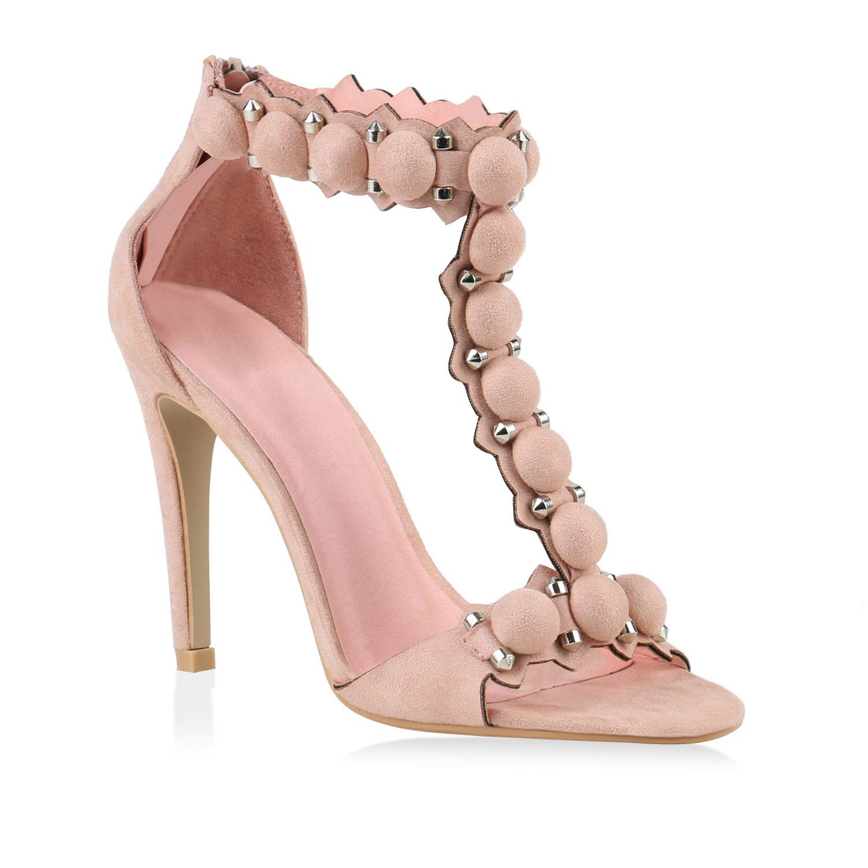 damen sandaletten high heels stiletto absatz sommerschuhe. Black Bedroom Furniture Sets. Home Design Ideas