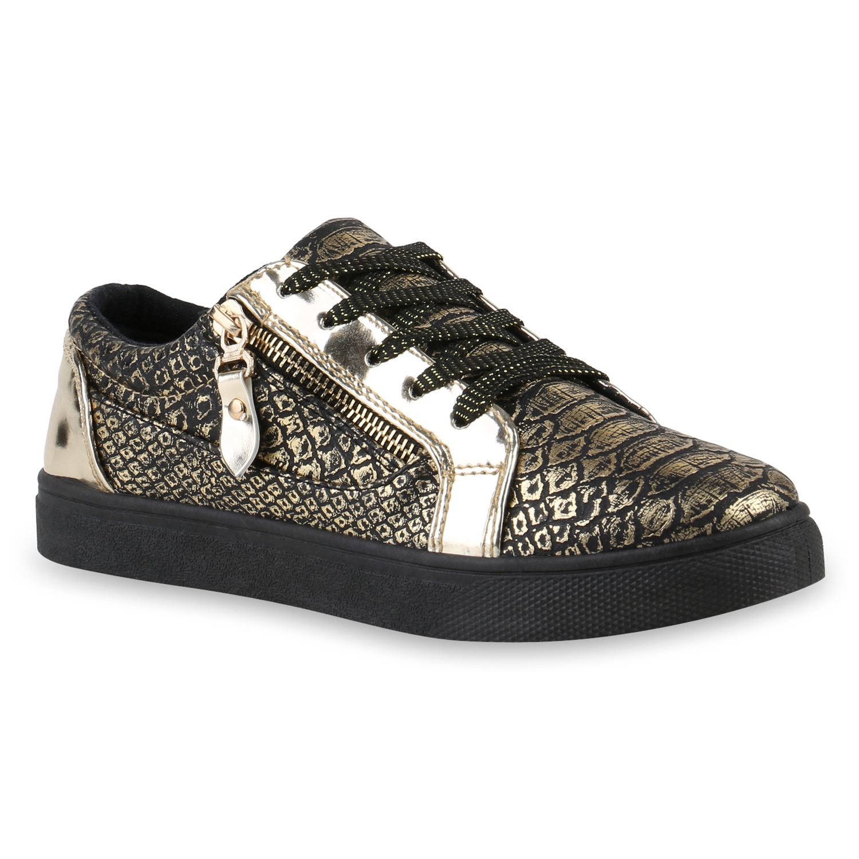 sneakers low damen lack turnschuhe metallic schuhe 817352 mode ebay. Black Bedroom Furniture Sets. Home Design Ideas