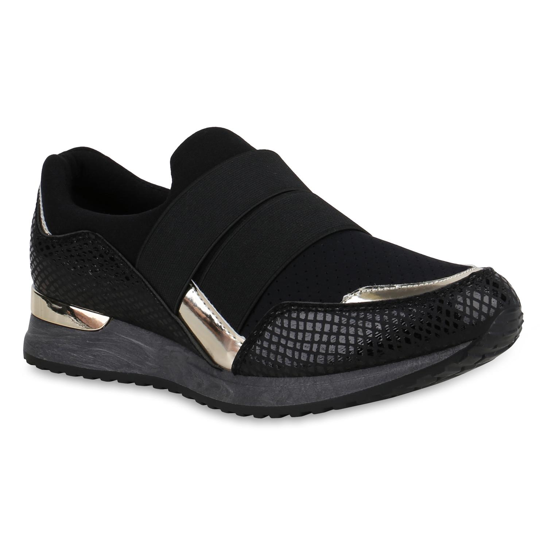 Damen Sportschuhe Metallic Slip Ons Laufschuhe Training 821303 Schuhe