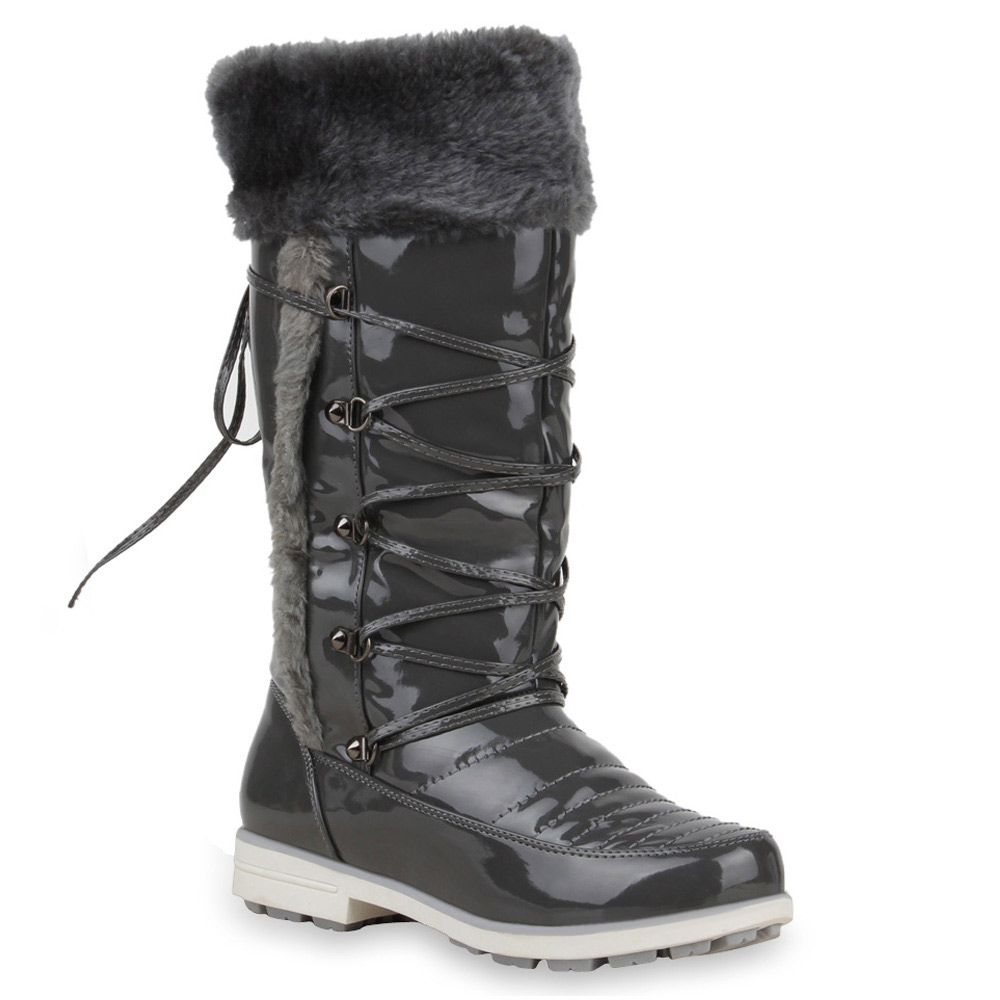 winter boots damen stiefel 95360 gef ttert schuhe 36 41 ebay. Black Bedroom Furniture Sets. Home Design Ideas