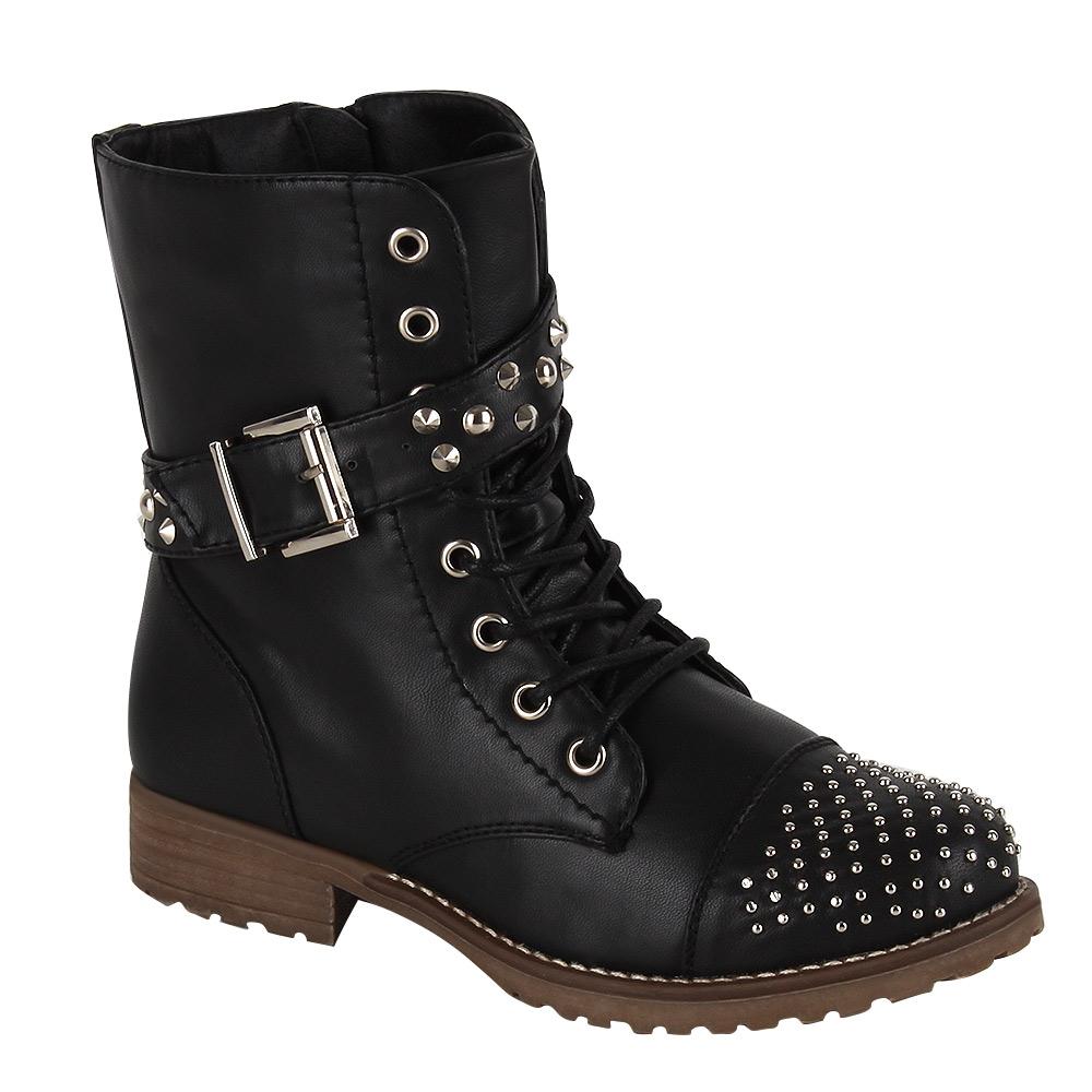 biker boots nieten damen schuhe gr 36 41 stiefel. Black Bedroom Furniture Sets. Home Design Ideas