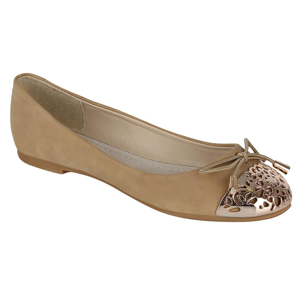 elegante damen ballerinas schuhe 95437 lederoptik goldene spitze 36 41 trendy ebay. Black Bedroom Furniture Sets. Home Design Ideas