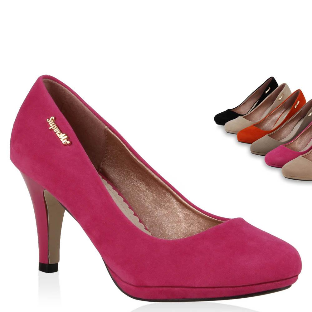 elegante damen pumps high heels 95709 business schuhe 36 41 trendy ebay. Black Bedroom Furniture Sets. Home Design Ideas