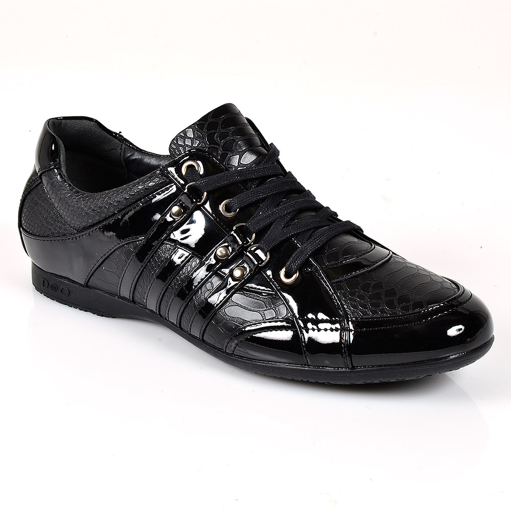 elegante kroko sneakers herren schn rer 96001 edle schuhe 40 45 mens special ebay. Black Bedroom Furniture Sets. Home Design Ideas
