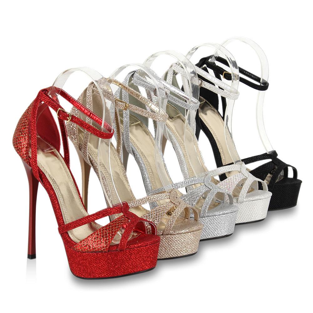 glamour plateau damen sandaletten high heels 96424 glitzer schuhe 36 41 neu 2013 ebay. Black Bedroom Furniture Sets. Home Design Ideas