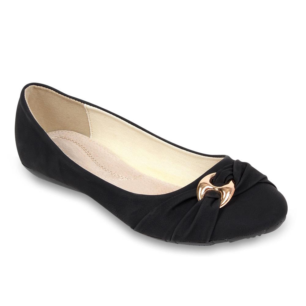 bergr en elegante damen ballerinas 96600 flach slipper schuhe 40 43 new look ebay. Black Bedroom Furniture Sets. Home Design Ideas