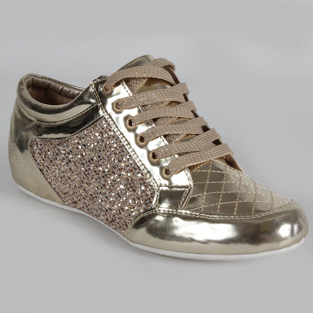 high top damen sneakers 96800 glamour se glitzer schuhe 36. Black Bedroom Furniture Sets. Home Design Ideas