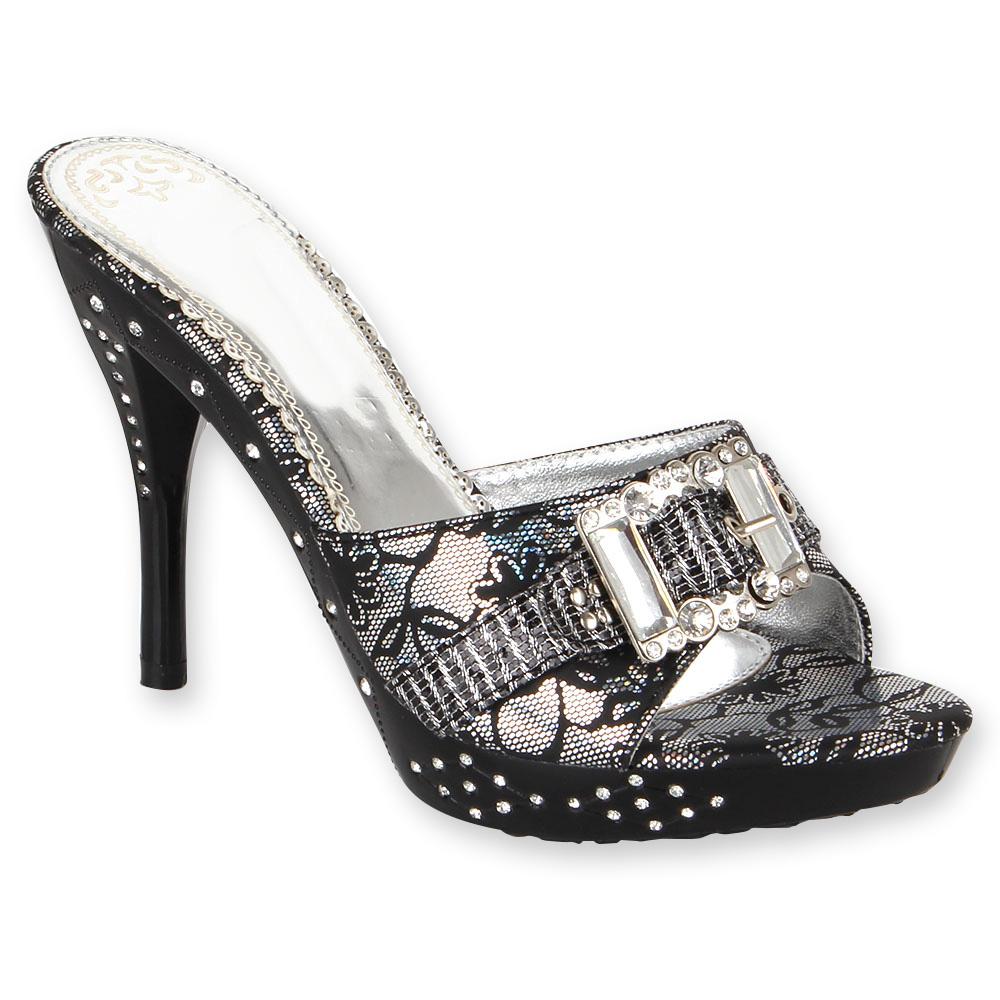 party glamour se sandaletten high heels 96826 strass. Black Bedroom Furniture Sets. Home Design Ideas