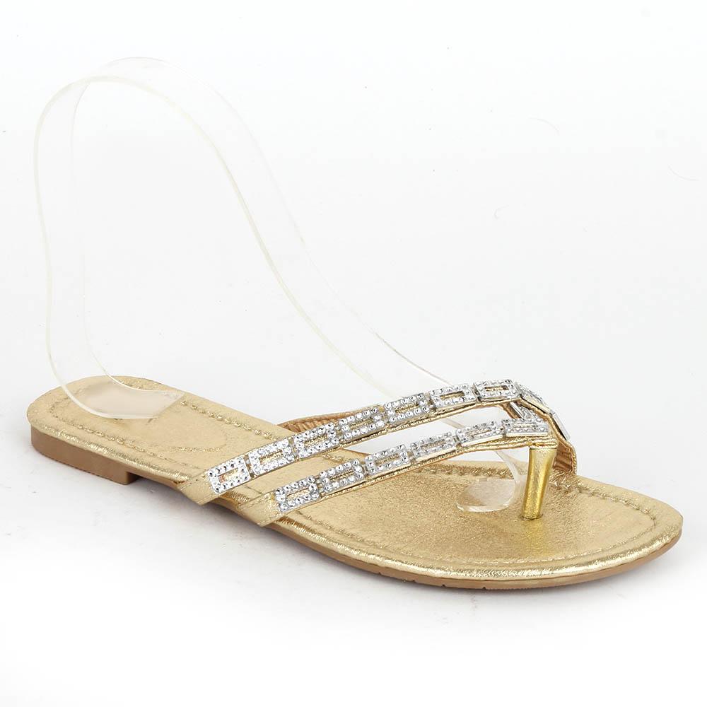 freizeit damen sandalen 97323 lederoptik flach strass schuhe 36 41 trendy. Black Bedroom Furniture Sets. Home Design Ideas