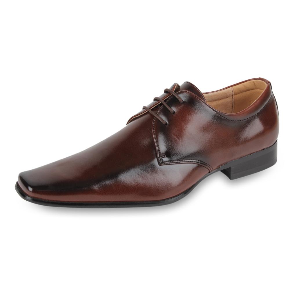 Klassische-Herren-Business-97807-Lack-Schnuerer-Schuhe-40-45-Neu