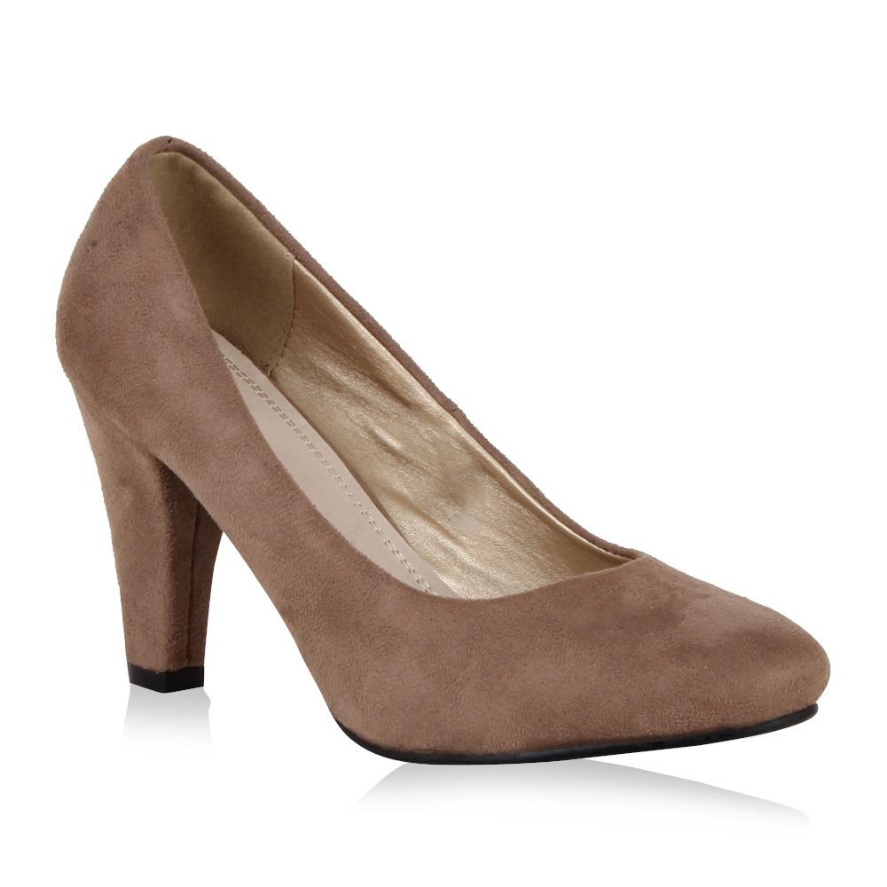 klassische damen pumps elegant business high heels schuhe 98046 gr 36 41 ebay. Black Bedroom Furniture Sets. Home Design Ideas