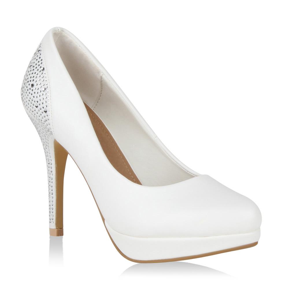sexy damen high heel pumps nieten absatz edle lederoptik schuhe 98080 gr 36 41 ebay. Black Bedroom Furniture Sets. Home Design Ideas