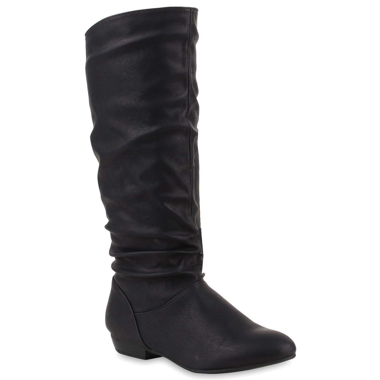 Damen-Stiefel-Hochwertige-Lederoptik-Schuhe-Schlupfstiefel-98170-Gr-36-41-Trendy