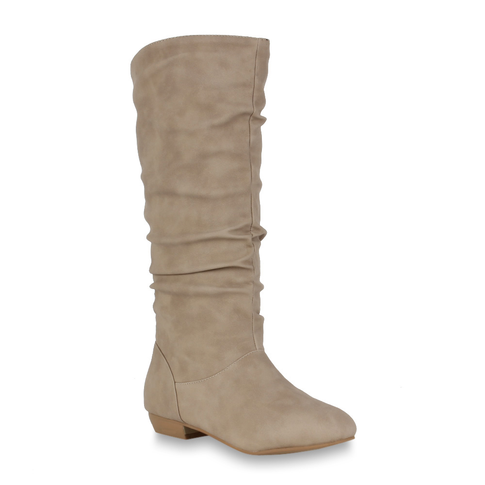 flache damen stiefel stiefeletten 99292 winter boots gr. Black Bedroom Furniture Sets. Home Design Ideas