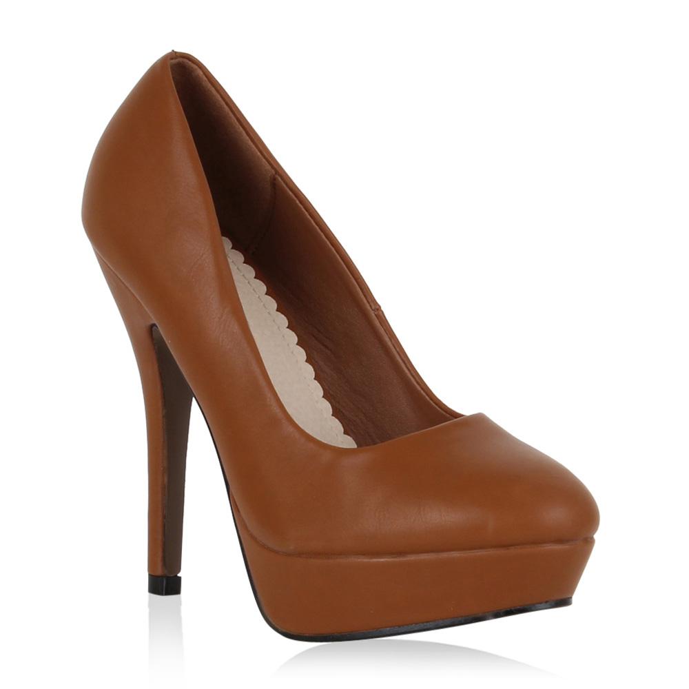 damen pumps high heels plateau party schuhe abendschuhe. Black Bedroom Furniture Sets. Home Design Ideas