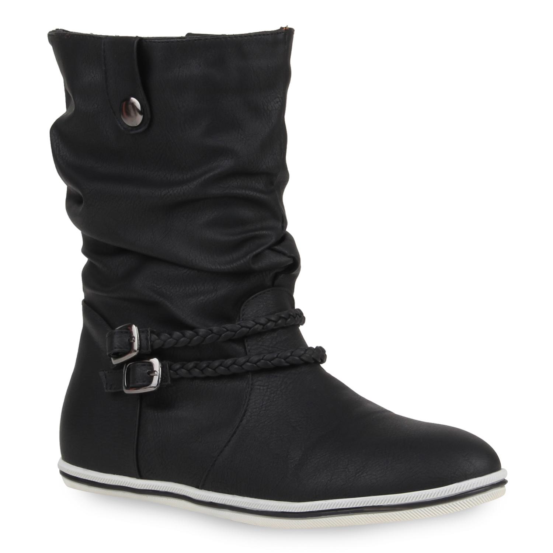 freizeit damen stiefeletten 96735 flach boots schuhe 35 40. Black Bedroom Furniture Sets. Home Design Ideas