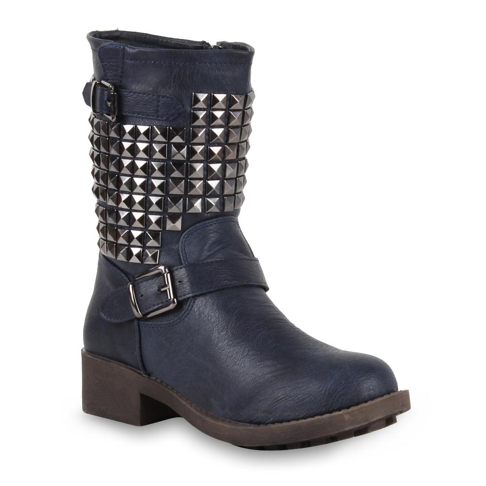 grossier femmes bottes motard rivets bottes bottines chaussures 98242 taille 36 41 ebay. Black Bedroom Furniture Sets. Home Design Ideas