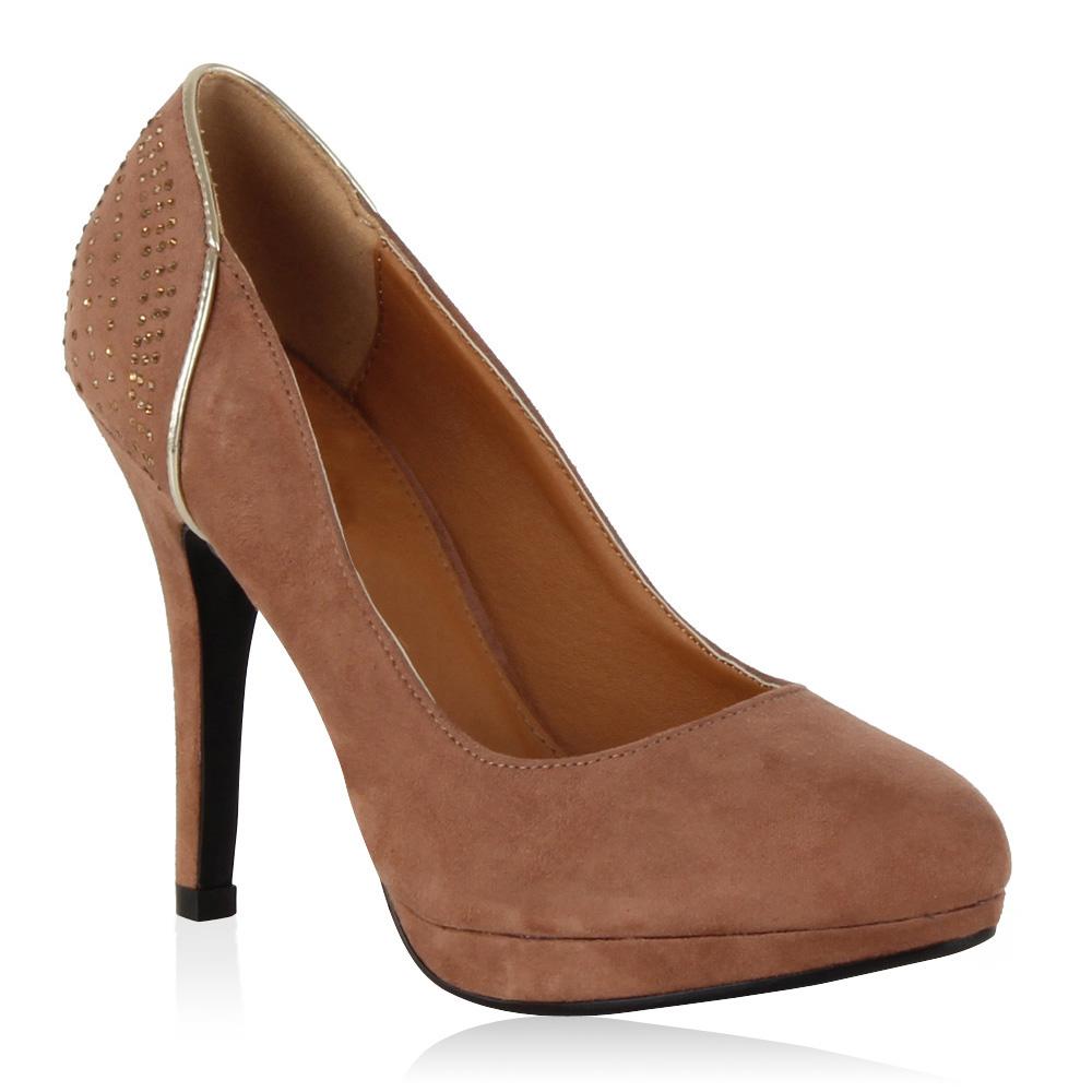 elegante damen pumps high heels strass schuhe 98264 gr 36 41 ebay. Black Bedroom Furniture Sets. Home Design Ideas