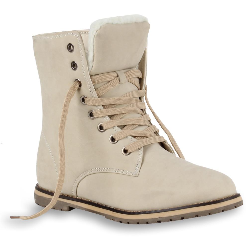 warm gef tterte damen stiefeletten worker boots schn rschuhe 98323 gr 36 41 ebay. Black Bedroom Furniture Sets. Home Design Ideas