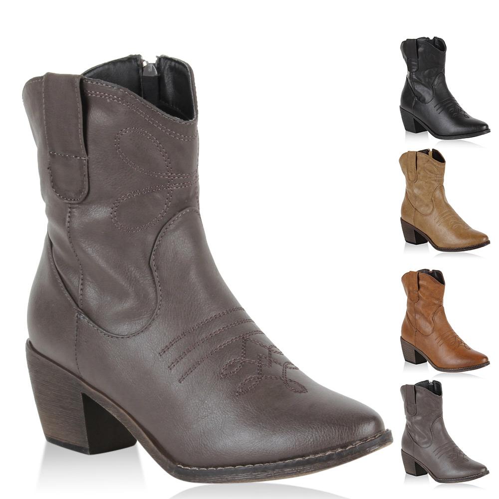 Cowboy Blockabsatz Stiefeletten Schuhe Gr 36 7wXRETXB