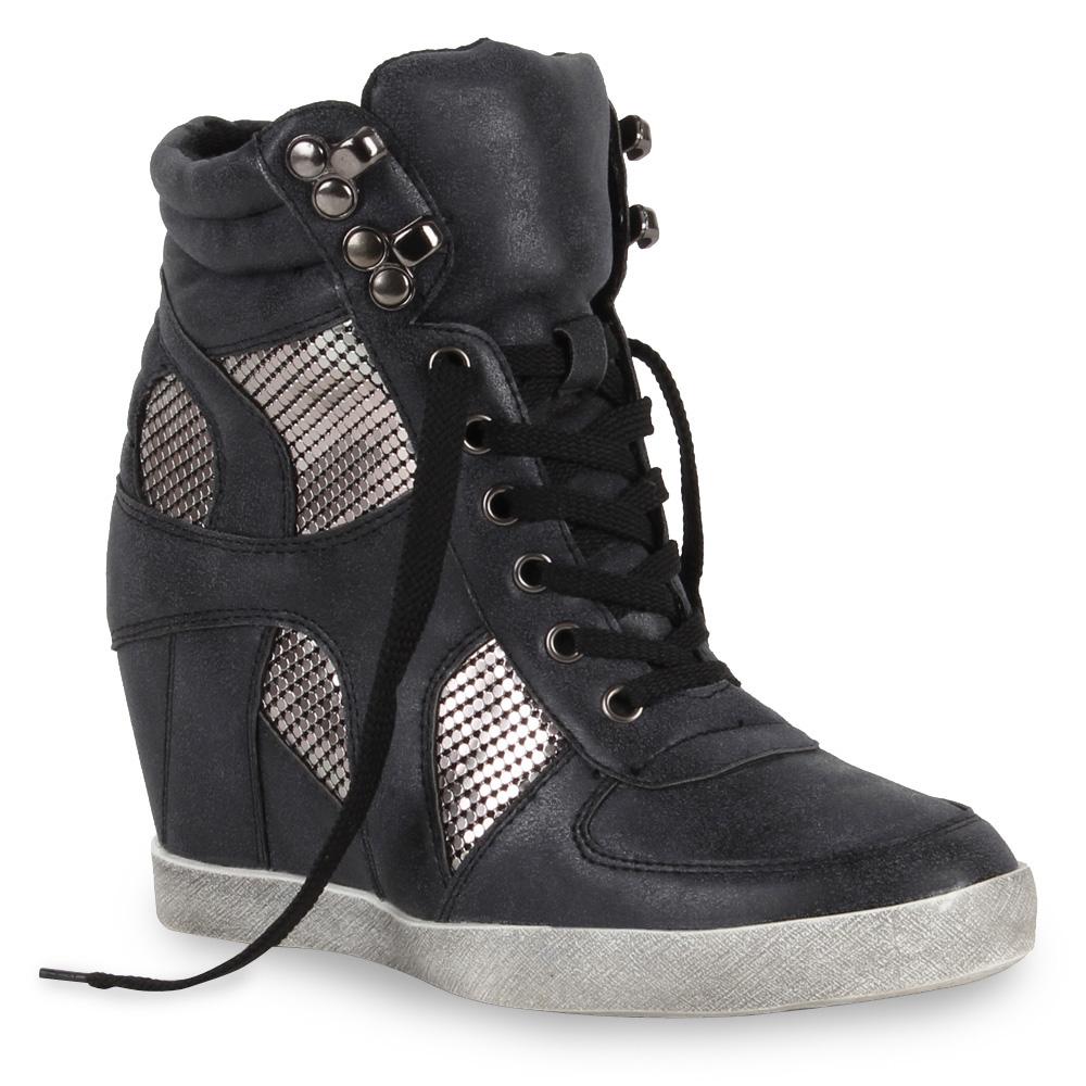 coole damen sneaker wedges keilabsatz sportschuhe 98490 gr 36 41. Black Bedroom Furniture Sets. Home Design Ideas